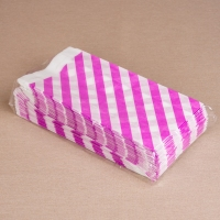 BontaBag Paper bag 1 kg, Striped, purple