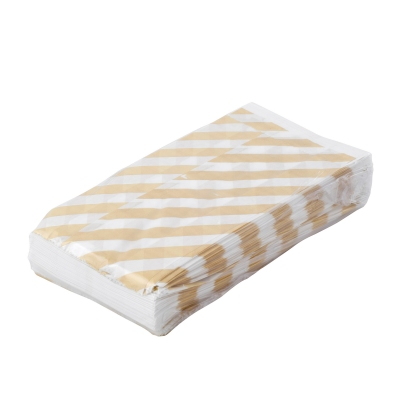 BontaBag Paper bag 1 kg, Striped, gold